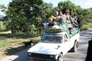 Podróż na dachu Pick up