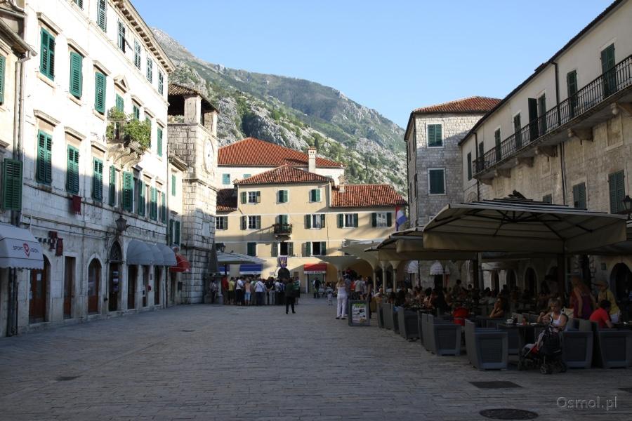 Kotor - główny plac miasta