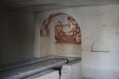 Muzeum w Goreme. Dawna jadalnia wykuta w skale