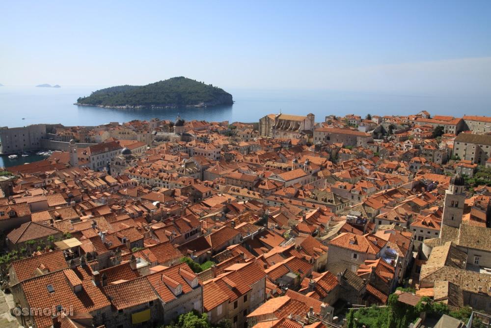 Dubrownik panorama miasta
