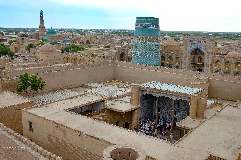 Panorama Chiwy z Kuhna Ark. Uzbeakistan