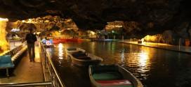 Ali Sadr Cave w Iranie. Po jaskini pływamy łódkami
