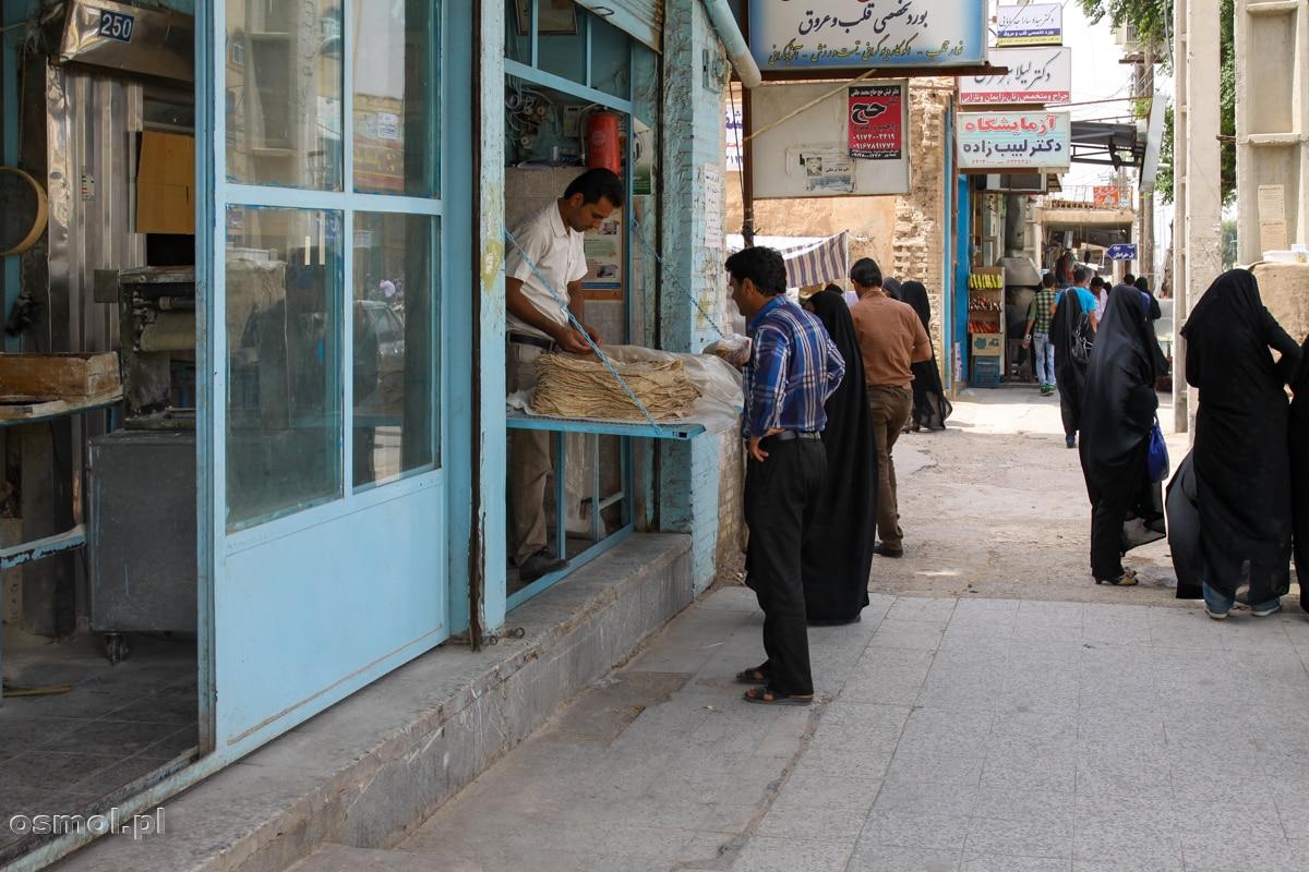 Sklep z chlebem w Shushtar