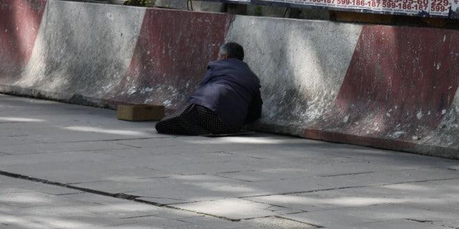 Żebrak w Tbilisi