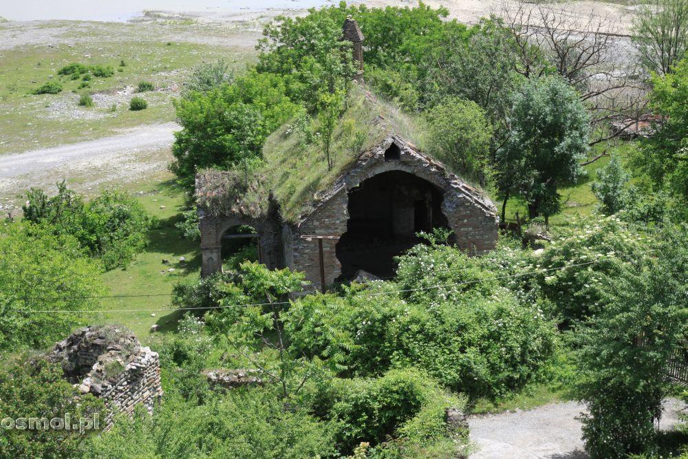 Ruiny pod twierdzą Ananuri