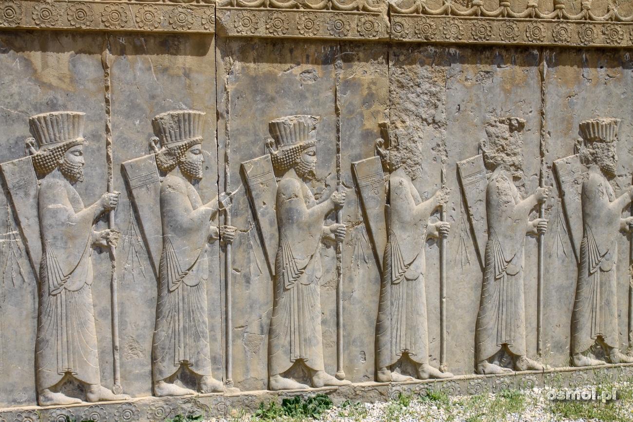 Płaskorzeźby w Persepolis - Nieśmiertelni to była elita elit, osobista ochrona władcy