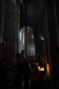 Sweti Cchoweli świece przed ikoną