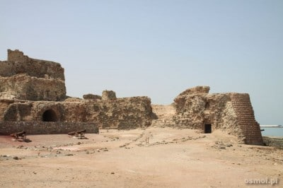 Hormoz island. Iran. Ruin of the fortress
