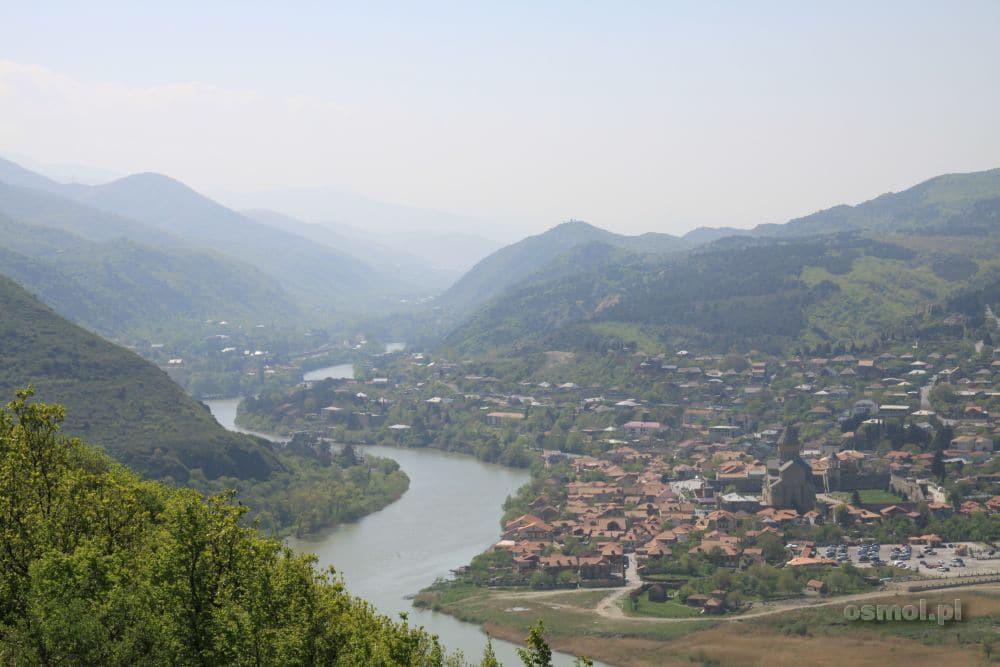 Dżwari panorama ze wzgórza na Mcchetę