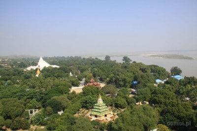 Panorama Mingun z Mingun Pagoda