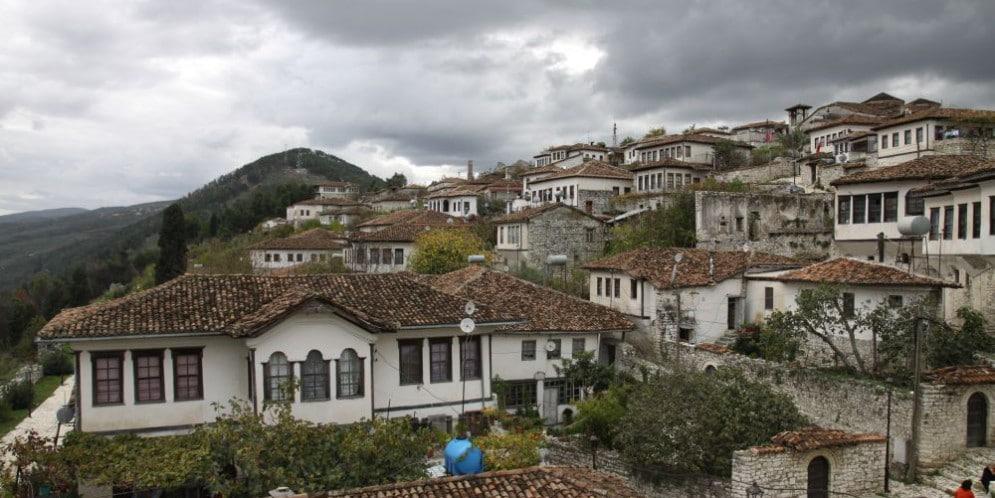 Berat górne miasto na zamku