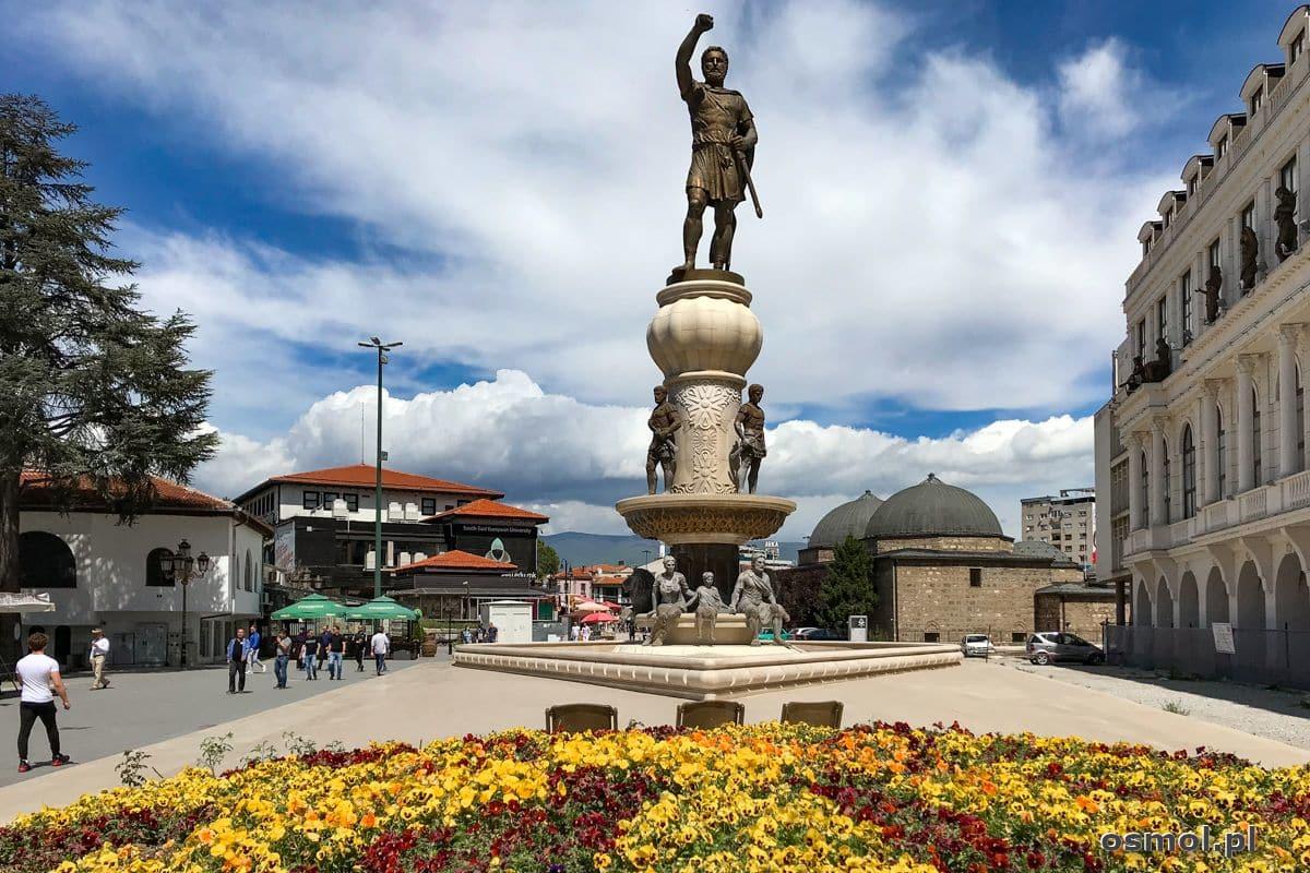 Pomnik w Skopje. Plac Filipa II