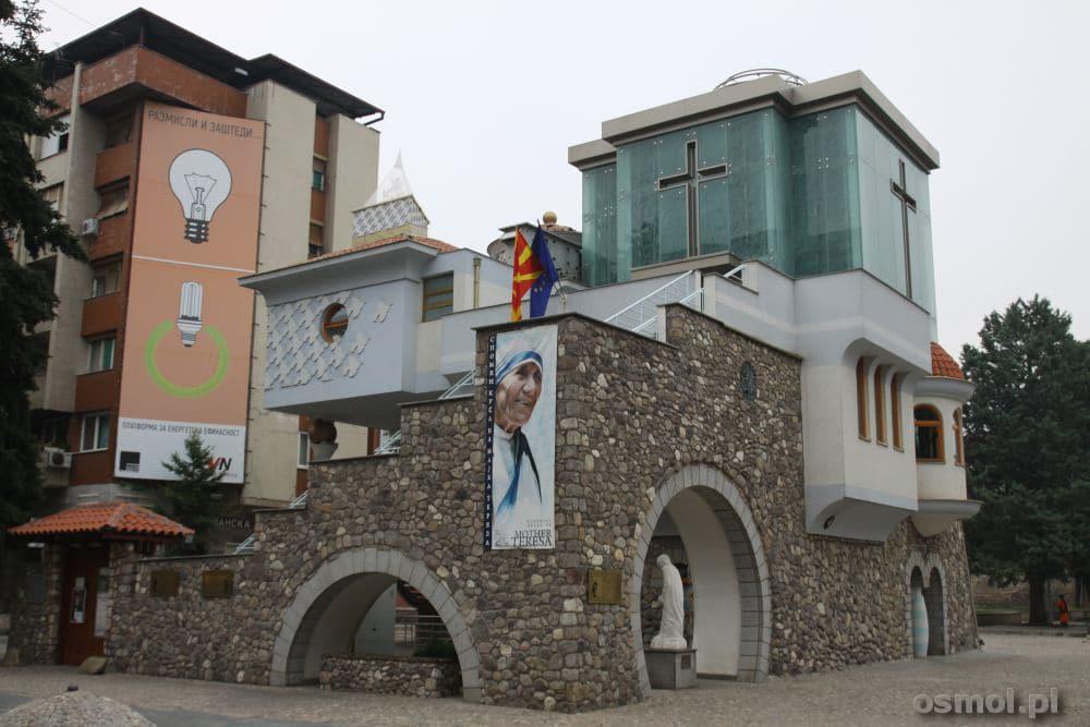 Muzeum Matki Teresy w Skopje. Co prawda do matki Teresy przyznaje się kilka krajów, ale urodziła się ona w Skopje i to nie podlega wątpliwości.
