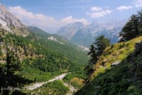 Trail to Theth in Albanian Alps