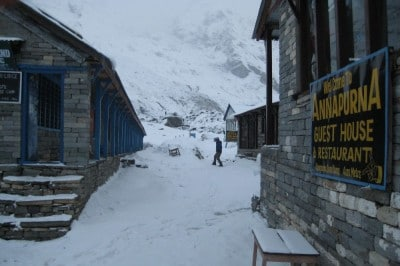 Annapurna Base Camp lodge do spania