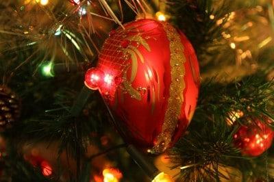 Bombka na choince bożonarodzeniowej