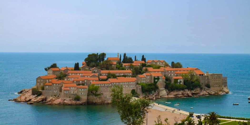 Wyspa Sveti Stefan w Czarnogóze