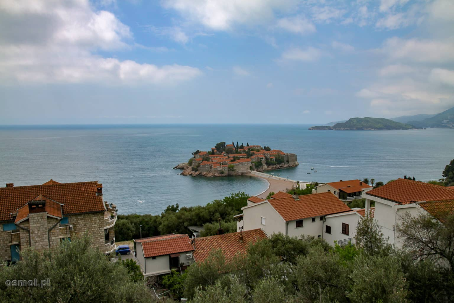 Widok na wyspę Święty Stefan