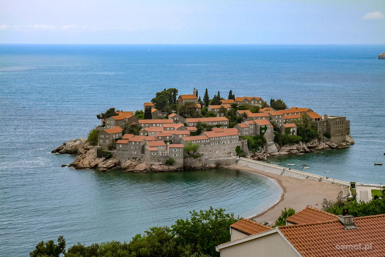 Wyspa Święty Stefan w Czarnogórze
