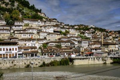 Berat Albania widok na miasto