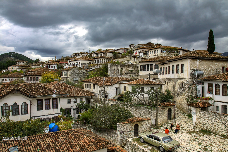 Berat widok na stare miasto na zamku