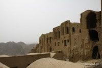 Kharanaq Iran widok na stare domy