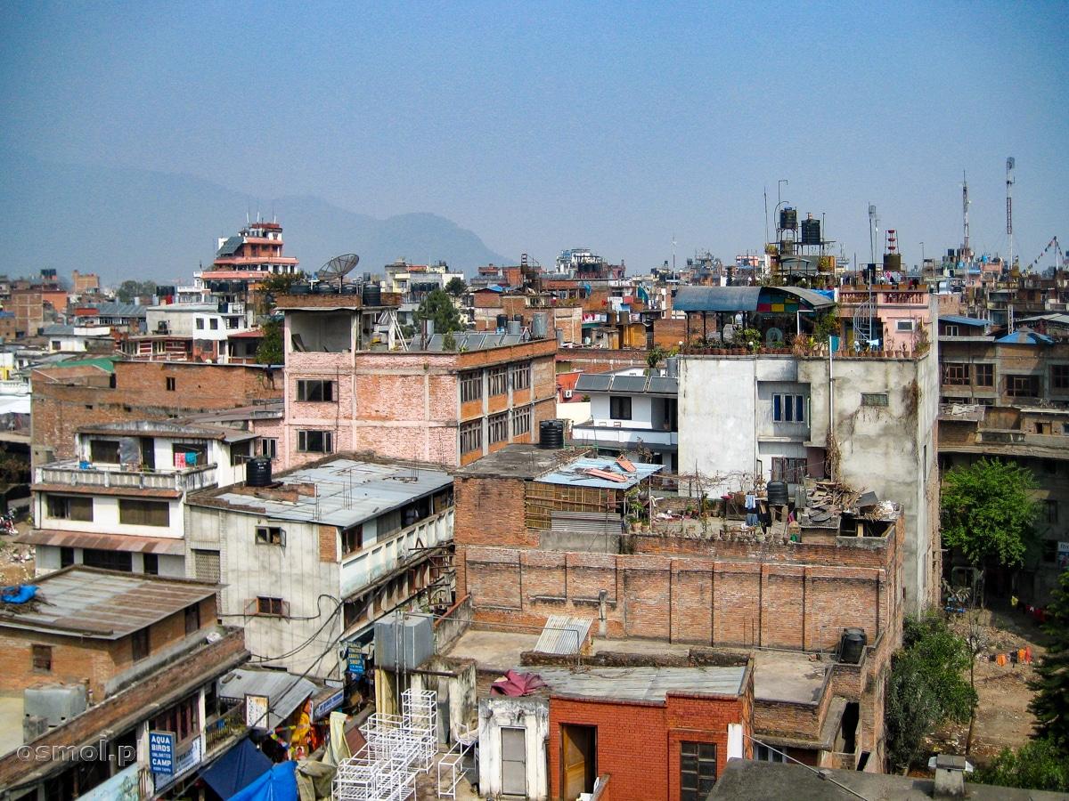 Widok na dachy Kathmandu - stolicy Nepalu