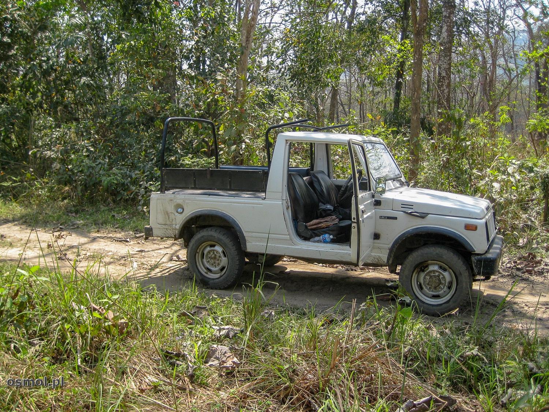 Jeep w trakcie safari po Parku Narodowym Chitwan
