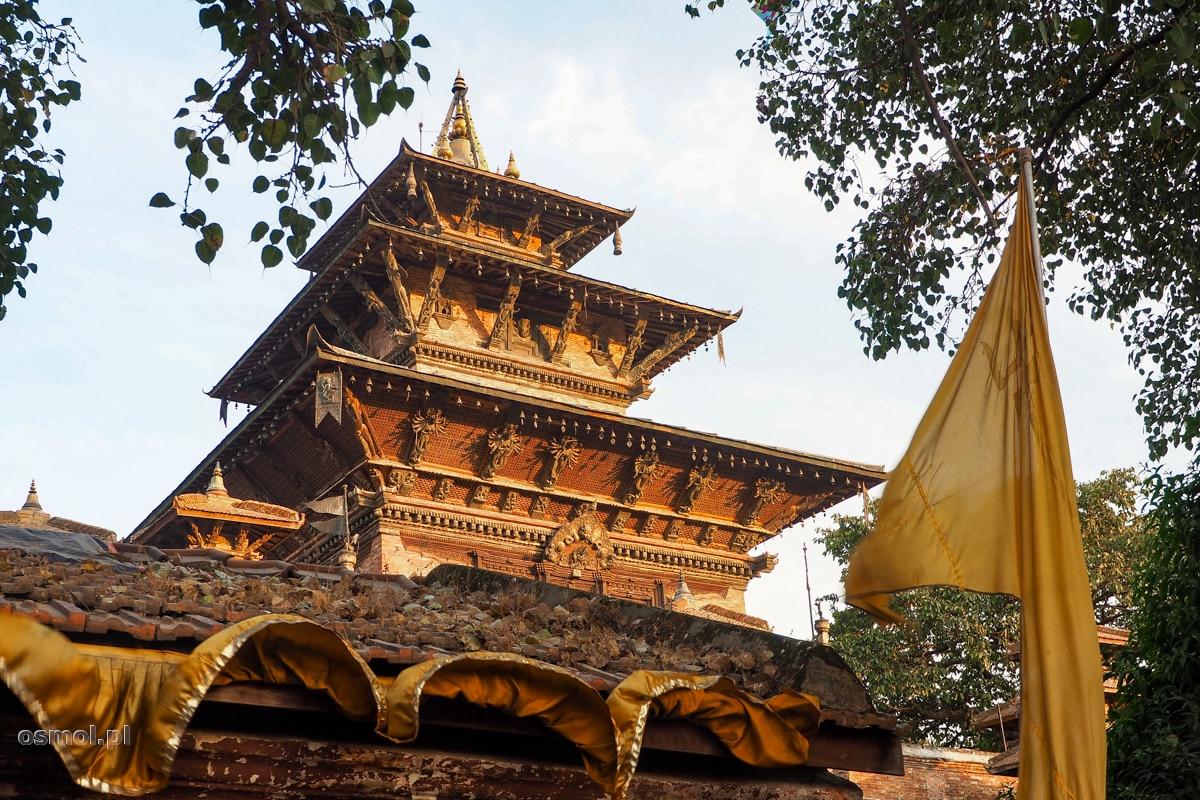 Dachy świątyni w Kathmandu
