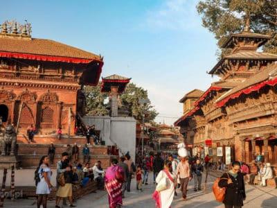 Kathmandu. Tradycyjna świątynna zabudowa newarska