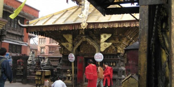 Świątynia w Swayambhunath w Katmandu