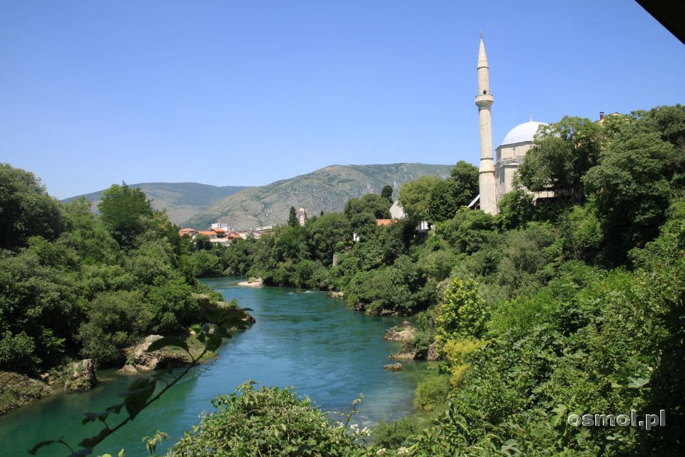 Panorama Mostaru ze Starego Mostu