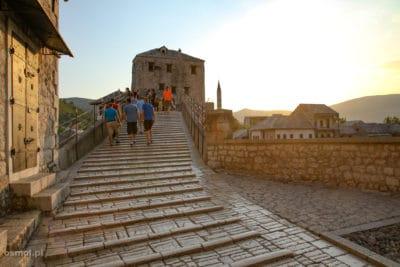 Mostar wejście na Stary Most