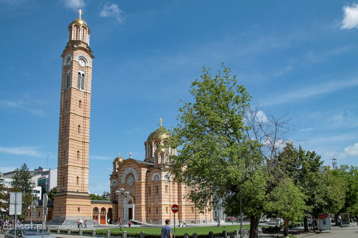 Sobór Chrystusa Króla w Banja Luce. Jak dla mnie wieża jest stanowczo za wysoka, ale co ja tam wiem ;)