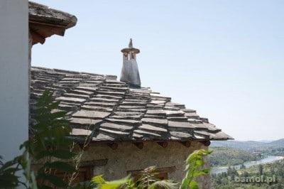 Tradycyjny kamienny dach w Bośni Pocitelj