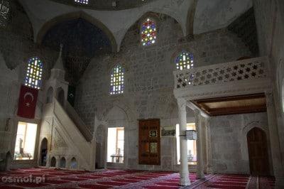 Meczet w Pocitelj - wnętrze meczetu