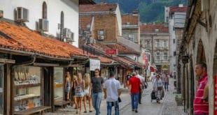 Uliczka w Bascarsiji czyli starej części Sarajewa