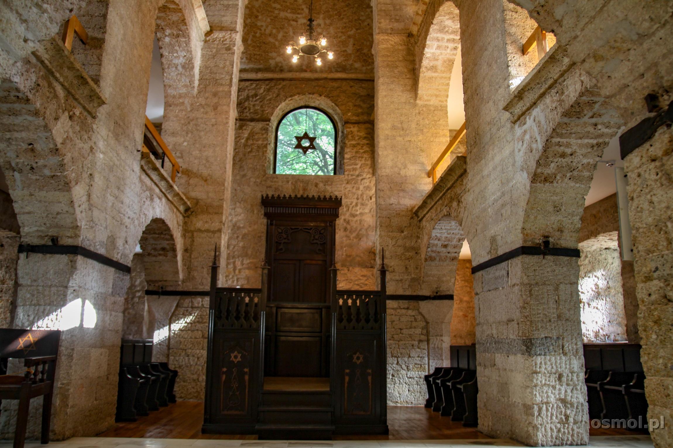 Wnętrze synagogi w Sarajewie