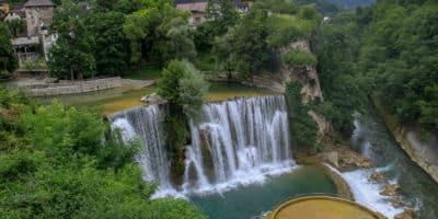 Jajce wodospad Bośnia