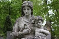 Jeden z wielu pomników na cmentarzu Łyczakowskim we Lwowie. Wiele pomników to arcydzieła