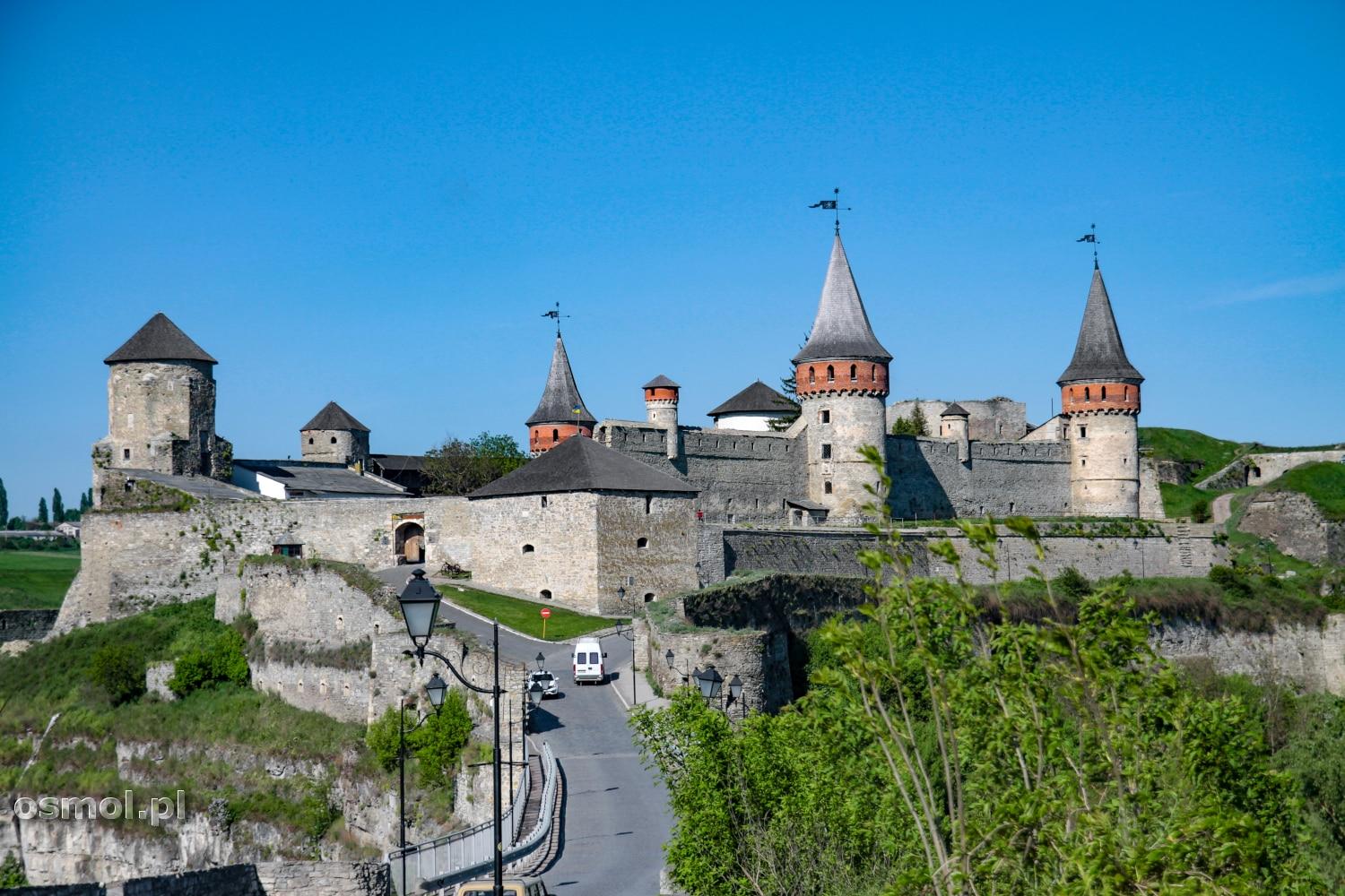 Panorama zamku w Kamieńcu Podolskim