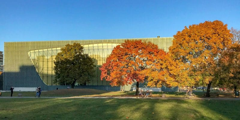 Muzeum Polin czyli Muzeum Historii Żydów jesienną porą.
