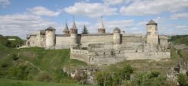 Widok na zamek w Kamieńcu Podolskim