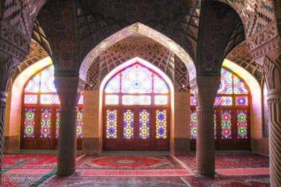 Rozowy Meczet w Iranie