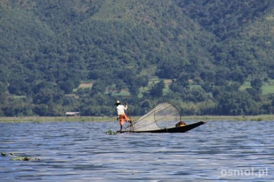 Rybak na Inle Lake