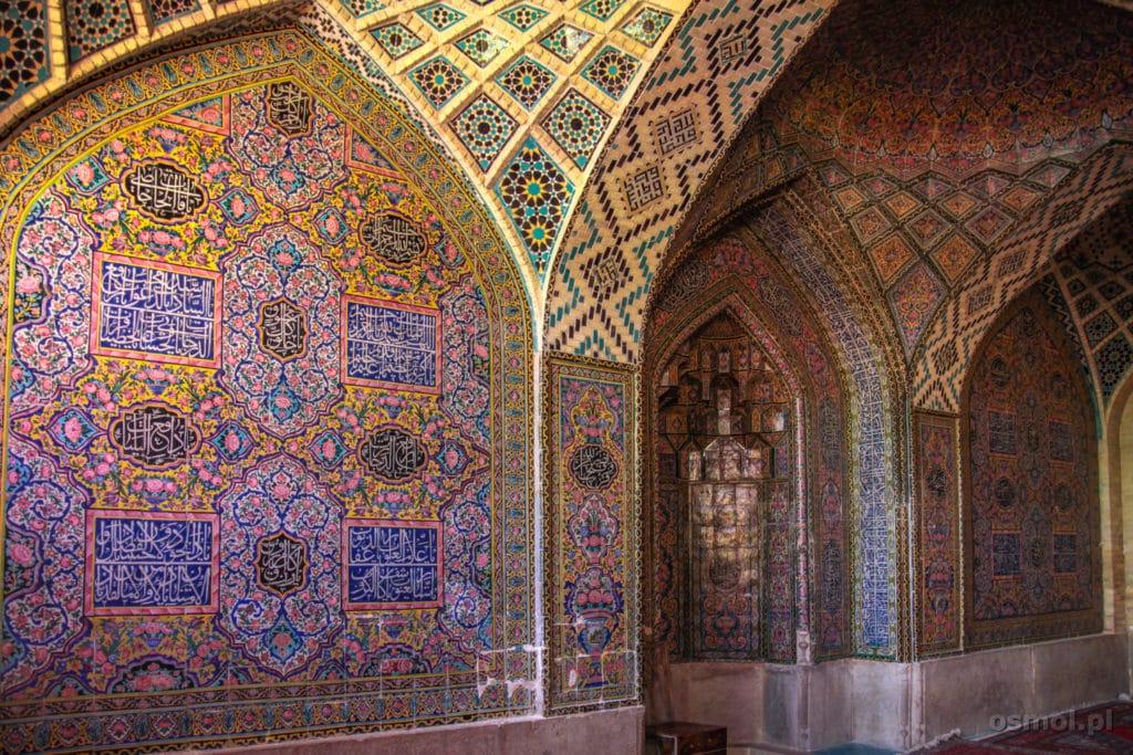 Ściany w Różowym Meczecie Iran