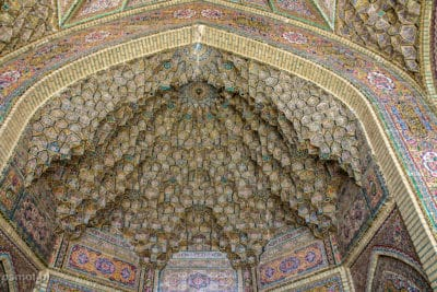 Mozaiki nad Różowym Meczetem meczetem w Iranie