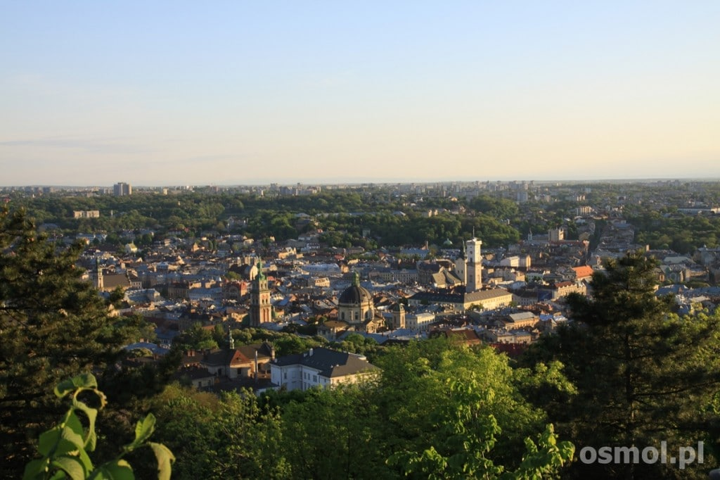 Lwow panorama z gory zamkowej