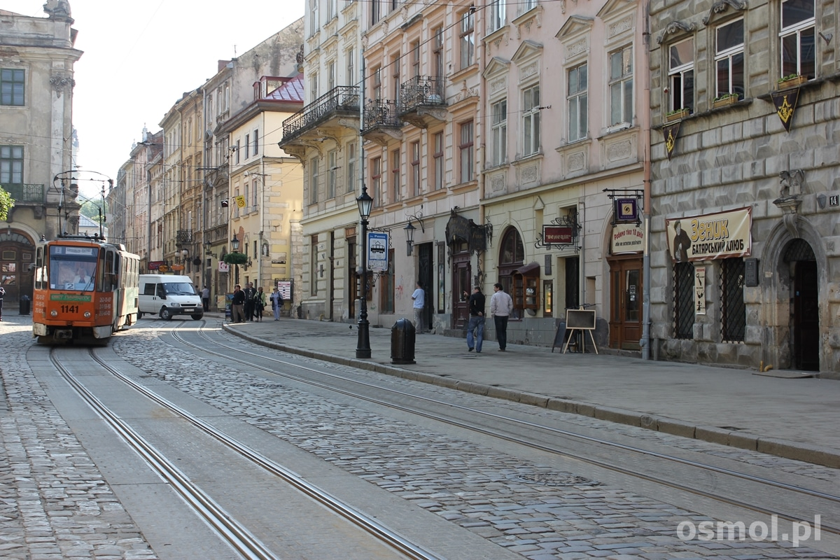 Tramwaj na Rynku we Lwowie
