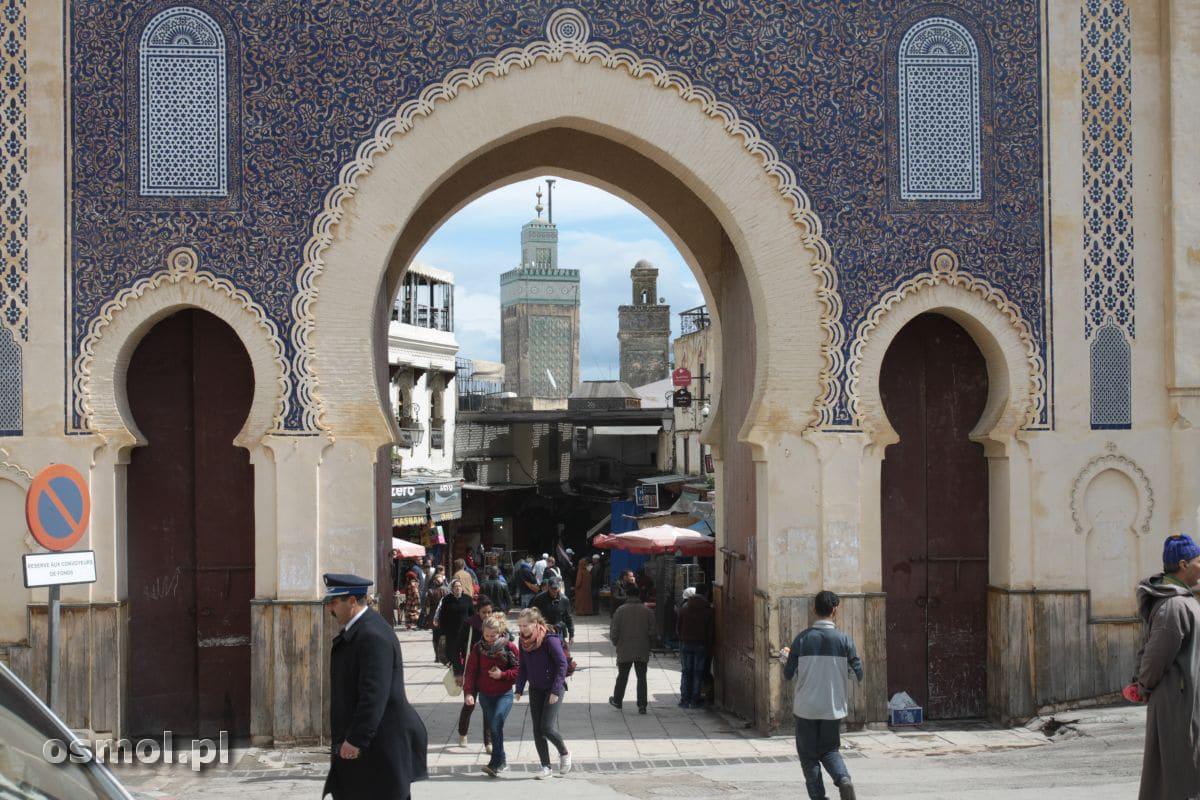 Bab Bou Jeloud - najbardziej znana brama Fezu